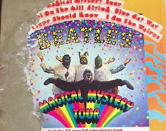 The Beatles Record Album - Vintage Beatles Record - Magical Mystery Tour Record By The Beatles SMAL-2835 - Damaged Mildewed Record And Cover