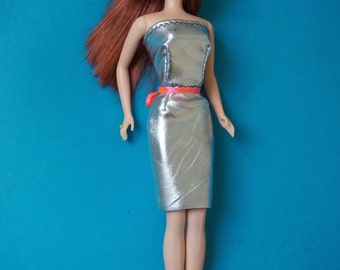 Barbie clothes hot silver partydress