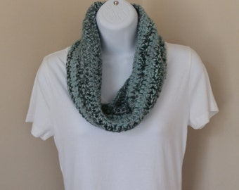 Winter Sky Cowl  --  Crochet Infinity Scarf Fall Weather Winter Accessories READY TO SHIP