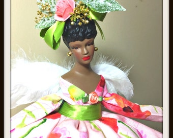 Black Angel, Black Doll, African American Dolls, Angel Tree Topper, Home Decoration, Gift Angel for Mother's Day,