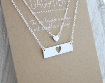 Mother Daughter Necklace Set - Mother's Day Gift - From Daughter For Mom - Mother's Day Jewelry - Necklace Gift - Graduation Gift - Wedding