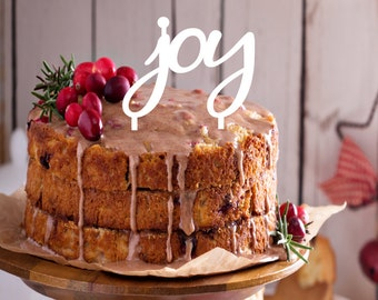 Joy Holiday Cake Topper | Christmas Cake Topper