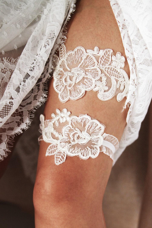 Wedding Garter Set Bridal Garter Set Lace Garter Belt Ivory