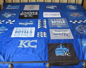Kansas City Royals T Shirt Memory Quilt