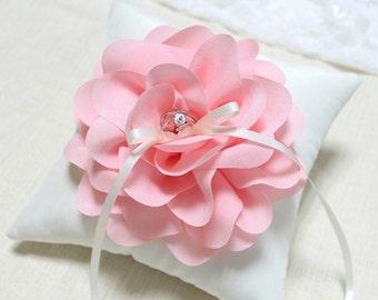 Wedding ring pillow, ring bearer pillow, pink ring pillow, bridal ring pillow, wedding ceremony ring pillow, ring cushion