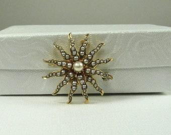 Sunburst Pin/Necklace; Antique Sunburst Pin/Necklace; Pearl Sunburst Pin/Necklace; Pearl Pin/Necklace; Antique Pearl Pin/Necklace;