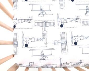 Crib Sheet Flight School. Fitted Crib Sheet. Baby Bedding. Crib Sheets. Airplane Crib Sheet. Planes Crib Sheet.