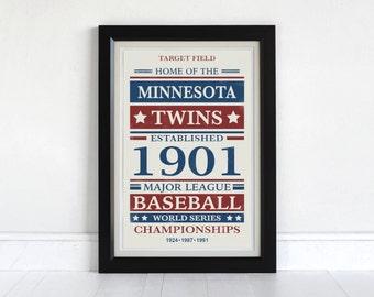 Minnesota Twins - Screen Printed Poster