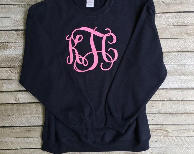 Monogram Sweatshirt, Monogrammed Sweatshirt, Crewneck Sweatshirt, Gifts under 20