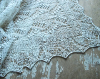 Wedding Shawl, estonian lace shawl, hand knit lace stole