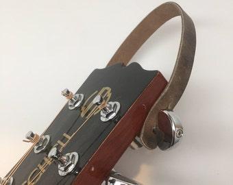 Handcrafted Leather Loop Guitar Hangers - Made in USA Banjo, ukulele, sitar, etc...