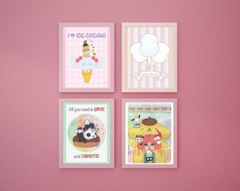 A5 prints - 4 different illustrations to choose from