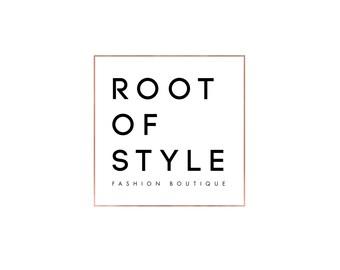 Rose Gold Logo | Custom Logo design | Minimal Premade Branding | Fashion | Boutique | Blog