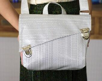 Messenger Bag, Shoulder Purse, Women Bag, Ipad Bag, School bag, White Bag, Shoulder Bag, Hand Bag, Fabric Bag, Retro Bag, Vegan Bag