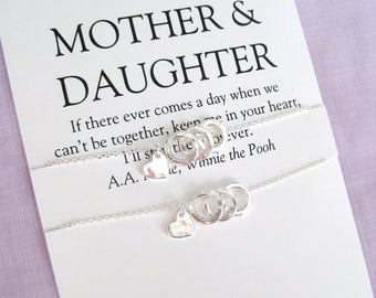 Mothers Day Gift. MOTHER Daughter Necklace Set. Mother of Bride Gift. 60th Birthday Gift. Mom Daughter Jewelry.  Mom Jewelry.