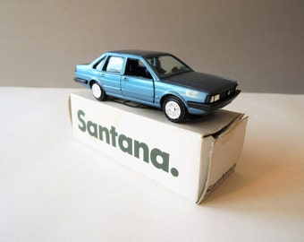 VIntage Diecast Car Model, Conrad Model No 1015, VW Santana GL 1/43 Scale Model, Made in W Germany, Blue Sedan Toy Car, Collectible Diecast