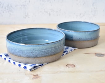 Ceramic bowls set, 2 Pottery bowls, set of Two Ceramic bowls, Ceramic dish, Salad Pasta bowl, stoneware Oven to Table dishes