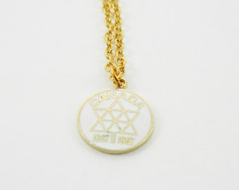 Canadian Centennial Necklace in White