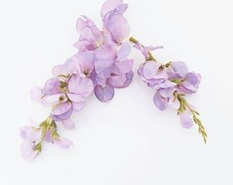 Purple Silk Wisteria   Artificial Flower Sprays   Wedding   Millinery Flowers   Wreath Supplies   Crafts   Home Decor   The Blue Hutch