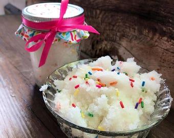 Birthday Sugar Scrub, 8 ounces, Birthday Body Scrub, Birthday Scrub, Sugar Scrub, Birthday Gift, Exfoliating Scrub