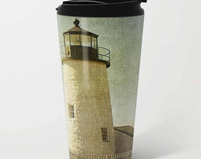 Pemaquid Lighthouse 2, Metal Travel Mug, Travel Mug, Coffee Mug, Landscape Photography, Lighthouse, Maine