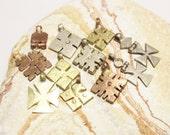 Ethiopian Coptic Cross Charms, African Pendants, Ethnic Jewelry Supplies, Small Cross Pendants (*AG157*)