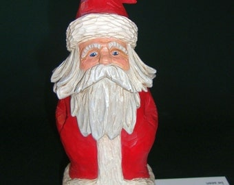Nisse Woodcarving, Santa, Tomte, Gnome, Original Norwegian or Swedish Wood carving by Dennis Millner, Collectible Gift, Anniversary Gift