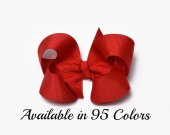 Red Hair Bow, 3 Inch Hair Bows, Girls Hair Bows, Baby Girl Hair Bows, Toddler Hair Bows, Baby Hair Bows, Hair Bows, Hair Bows for Girls, 300