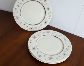 Set of 4 Romance of the Stars Sterling Silver Dinner Plates