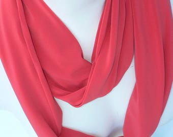 Infinity coral scarf