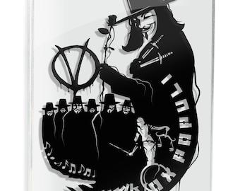 Vox Populi - V for Vendetta paper craft // silhouette handcut paper craft unique wall art quote artwork