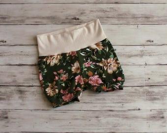 Baby Bubble Shorts, Bloomers, Baby Shorts, Toddler Shorts, Floral Shorts, Shorties, Bummies, Baby Bloomers, Kid Shorts, Girl Shorties