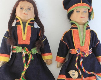 """Antique, museum quality Finnish """"Martta"""" Dolls from 1930s - a doll collectors dream"""