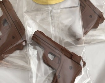 12 Chocolate Gun Favors Candy Birthday Party
