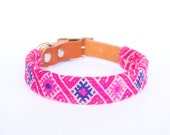 Dog Collar Sleeve // Fuchsia Tapestry // SLEEVE ONLY