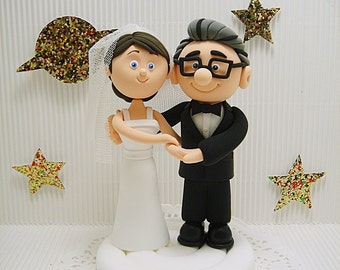 Carl and Ellie wedding cake topper - UP