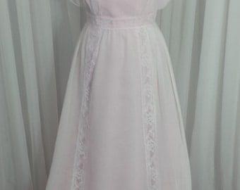 Vintage Pink Dress by Bianchi - Size 10