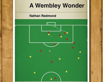 Norwich City goal v Middlesbrough in 2015 Championship Play Off Final - Nathan Redmond - Classic Book Cover Poster (Various Sizes)