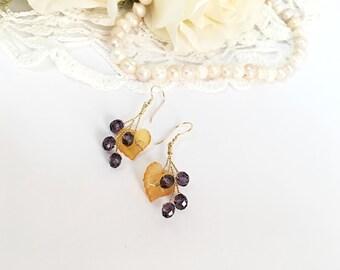 Crystal Floral Earings, dangle earrings, gold dangle earings, bridesmaid earrings, earings dangle, floral earrings, silver dangle earrings
