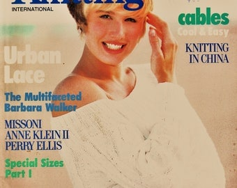 2 Issues Retro 80's Vogue Knitting International Magazine  Out-of-Print Designer Knit Patterns & Instructions Knitting Supply Fiber Arts
