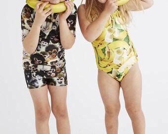 BANANAS: Girl's Tank Swimsuit