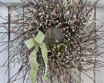 Twig Birdnest Wreath - Berry Wreath - Summer Wreath - Spring Wreath