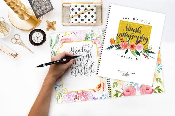 Brush Calligraphy Starter Kit Printable Wisdom Learn No Fuss