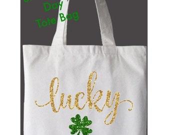 St. Patrick's Day Lucky Shamrock Tote Bag