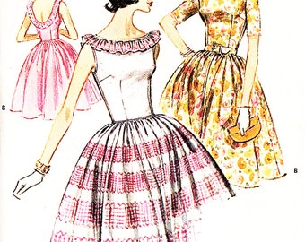 McCall's 6223 Misses' Vintage 1960s Low Back Dress Sewing Pattern