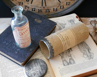Antique Eugene's Lotion Bottle With Shipping Tube / Old Stock / Sold As Pair