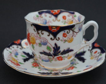 "ROYAL ALBERT Crown China Teacup and Saucer Set ""Bognor"""