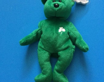 Erin Bear - Retired Ty Beanie Baby - 1997 - Mint Condition