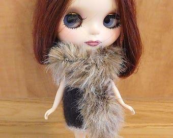 Faux  Fur Knit Scarves For Blythe Dolls