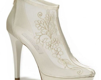 Wedding shoes, Bridal shoes, Bride shoes, Bridesmaid shoes, Handmade Lace wedding shoes designed specially